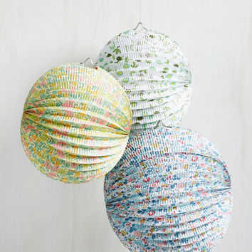 By Fleurs of Will Paper Lantern Set | Mod Retro Vintage Decor Accessories | ModCloth.com