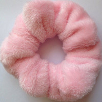 Baby pink super soft fluffy / furry hair scrunchie