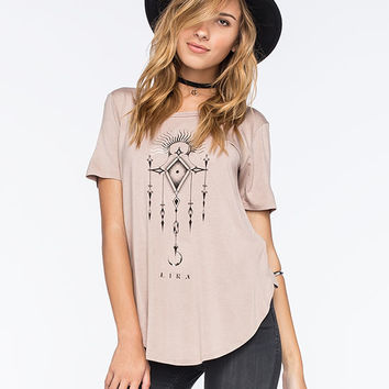 Lira Bad Moon Womens Tunic Tee Smoke  In Sizes