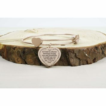 Inspirational Hearts Bangle  - Last Breathe from Dad