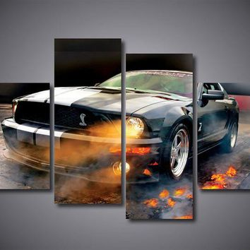 Ford Mustang Shelby Cobra Retro 5 piece panel art canvas