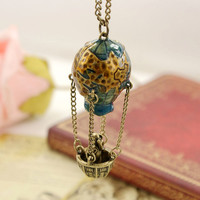 See The World - Globe Air Balloon Necklace