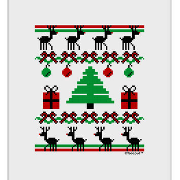 Tree with Gifts Ugly Christmas Sweater Aluminum Dry Erase Board