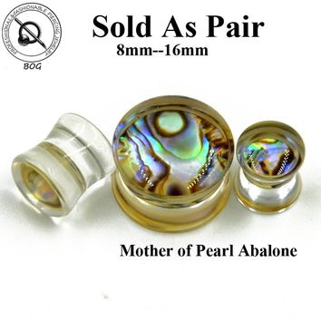 Mother of Pearl Abalone Ear Plugs