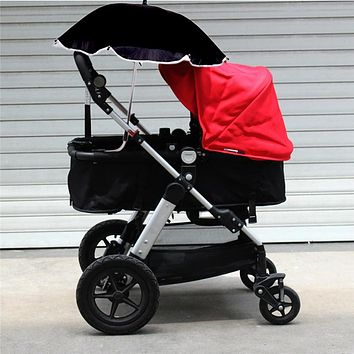 Adjustable Baby Stroller Car Sunshade Umbrella with Clip Kids Pram Sun Shade Parasol for Pushchair Canopy Stroller Accessories
