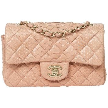Chanel - Mini Flap Bag Soft Pink Python