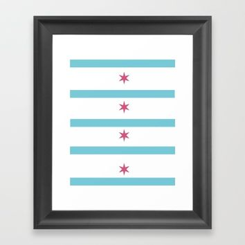 Chicago remix Framed Art Print by bridgetcarney