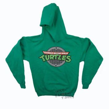 Teenage Mutant Ninja Turtles Sewer Logo Adult Hoodie