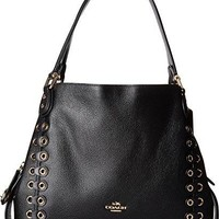 COACH Womens Edie Shoulder Bag 31 With Coach Link Detail