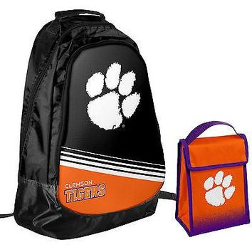 Clemson Tigers NCAA One Size Backpack Core Bag Insulated Lunch Box