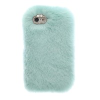 Cozy Fur iPhone Case Mint