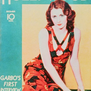 Barbara Stanwyck 11x17 Hollywood Magazine Cover Poster (1940's)