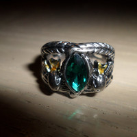 Metal Replica The Lord of the Rings Aragorn Ring of Barahir The Hobbit Jewelry LOTR Free USA Shipping With Tracking Number and Insurance