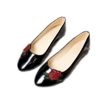 new Women Flower Embroider Casual Shoes size 789