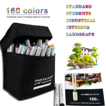 Finecolor 160 Colors Double Headed Sketch Alcohol Marker Pen 24 36 48 60 72 Pc Set Animation set Paint Sketch Art Copic Marker