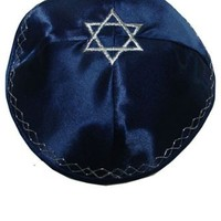 Kippah with Star of David-navy