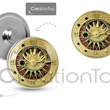 Charm button for any Snap bracelet Memory noosa Steampunk clock