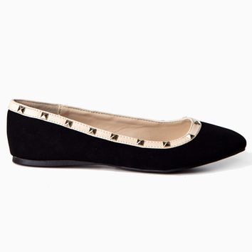 Black-Suede-Studded-Accent-Flat