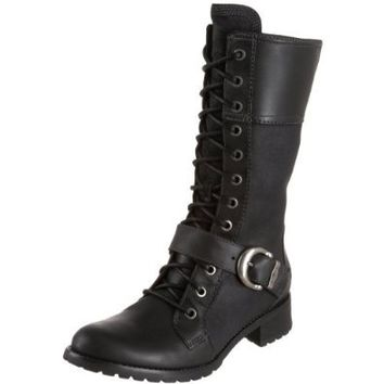 Zlyc Women's Vintage Lace Up Knee High Boots 37