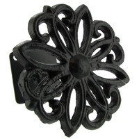 Black Cast Iron Flower Weave Drape Holder | Hobby Lobby | 456210