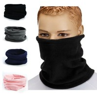 2016 Hot Fashion Unisex Women Men 100% Comfortable Polar Fleece Snood Scarf Thermal Snood Scarf Winter Warmer Neck Scarf