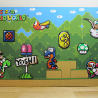 Super Mario World 3D Wall Art