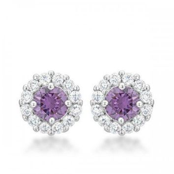 Bella Bridal Earrings In Purple (pack of 1 ea)