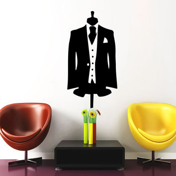 Wall Decal Dummy Boy Vinyl Sticker Mannequin In Dinner Jacket Vinyl Decals D601