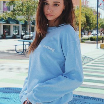 Darling Sweatshirt - Light Blue