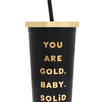 ban.do You Are Gold Sip Sip Travel Tumbler | Nordstrom