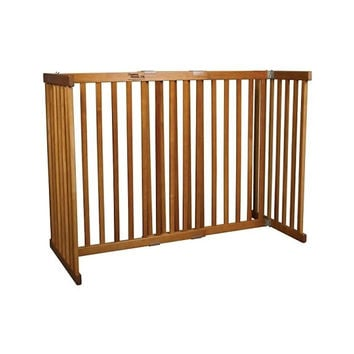 Dynamic Accents Free Standing Wooden Expandable Pet Gate - Small Tall / Black