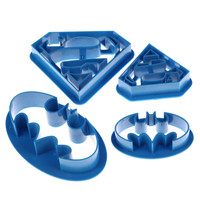 4Pcs/lot Cookie Cutters Super Hero Batman Superman Mould Sugarcraft Fondant Cake Decoration Kitchen Baking Pastry Tools