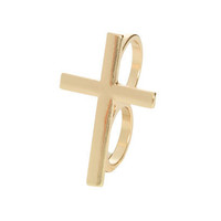 2 Finger Cross Ring | Shop Accessories at Wet Seal