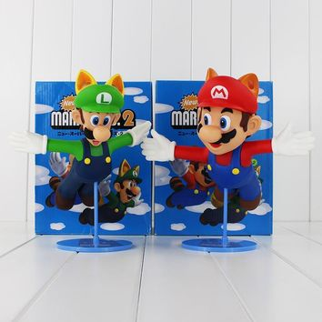 "Super Mario party nes switch 9"" 22cm 2Styles New Arrival Classic Game  Bros. 2 Luigi  Flying PVC Action Figure Toys Collection Model Toys AT_80_8"