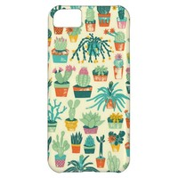 Cactus Flower Pattern Fabric iPhone 5C Case
