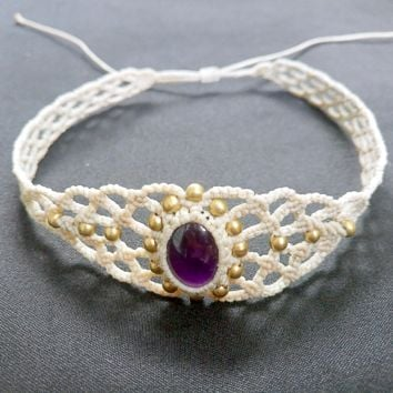 Choker Necklace Stylish Macrame Jewelry M0125