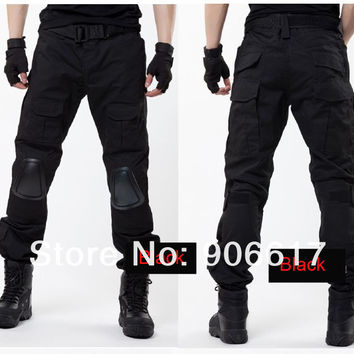 5 colors MILITARY ARMY PANTS TACTICAL AIRSOFT TACTICAL PANTS TROUSERS SWAT KNEE PAD sports pants