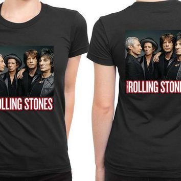 DCCK7H3 The Rolling Stones Cover Photo 2 Sided Womens T Shirt