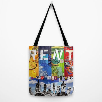 Rent Tote Bag, Canvas Tote Bag, Womens Totes, Shopping Tote, Beach Tote, Unique Valentine Gift Ideas, Rent Musical, No day but today