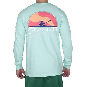 Paddler Long Sleeve Tee Shirt in Island Reef by Waters Bluff
