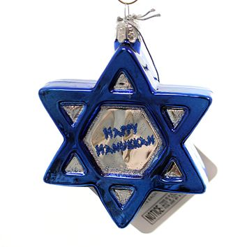 Noble Gems Star Of David Glass Ornament