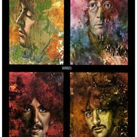 Beatles Let It Be Psychedelic Poster 11x17