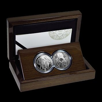 2019 South Africa 2-Coin Silver Big Five Elephant Proof Set