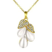 MLOVES Women's Classical Delicate Opal Grape Shape Pendant Necklace