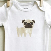 Pug Baby Bodysuit for Baby Boy or Baby Girl