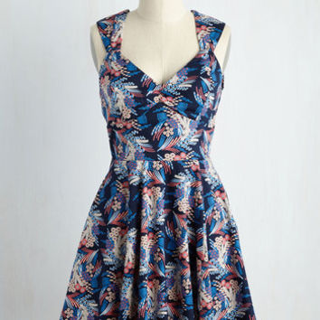 Flare Maiden Dress in Floral