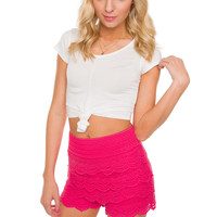 Carmel Knot Crop Top - White