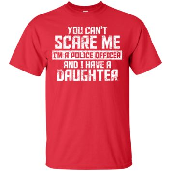 Can't Scare a police officer with a daughter Men's Lightweight Novelty Ultra Cotton T-Shirt