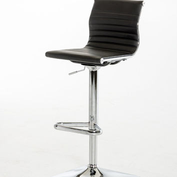 Modrest Mari Modern Black Leatherette Bar Stool