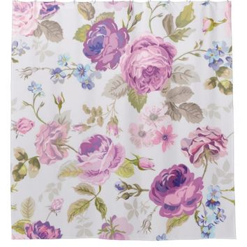 Victorian,country,lavender,shabby,chic,roses,paris Shower Curtain